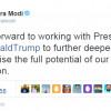 Modi Congratulates Trump, Says Looking Forward To Working With Him