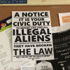 Penn State posters to report illegal aliens, Travel Ban create panic in US universities