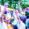 Open air Holi dance party at the Brownstone in New Jersey
