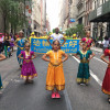 Dancing Bharatnatyam, Bhangra, Bollywood in the streets of Manhattan