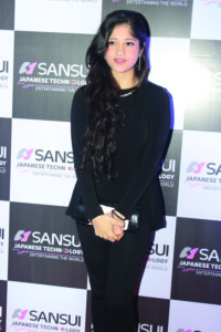 Mumbai: Music director Anu Malik's daughter Anmol Malik during a party organized by Anirudh Dhoot of Videocon Industries to felicitate Anu Malik for receiving, The Pride of Industry award in Mumbai on March 2, 2016. (Photo: IANS)
