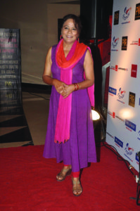 Actor Seema Biswas during the screening of Hollywood film The Hundred-Foot Journey in Mumbai on August 7, 2014. (Photo: IANS)