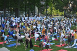 More than 1,000 people gathered at the United Nations to take part in and celebrate the International Day of Yoga on June 20