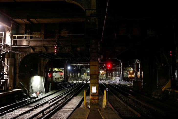 NJ Transit Train Derails at Penn Station