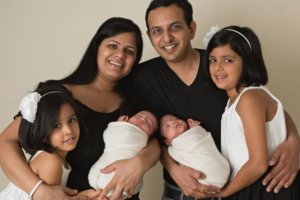 Ish and Deepali Singla with their children