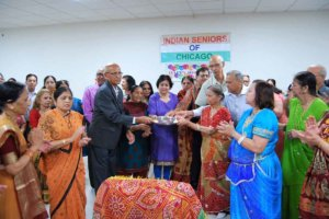 ISC President doing Arti with members