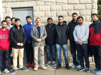 Victims of the Kearny Fire with K. Devadasan Nair, Consul of Community Affair at the Indian Consulate in New York (Photo Courtesy: Swapnil Deshmukh)