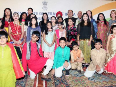 Millenium kids from Hindi Schools in New Jersey participated in a colorful Hindi Day event on Jan 13. Photo:-Jay Mandal/On Assignment