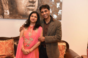 India's Consul General in Chicago Neeta Bhushan, with her husband, Joint Secretary of Ministry of External Affairs Anurag Bhushan, at a reception they hosted March 11 at the consular residence.