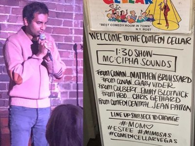 Aziz Ansari's first appearance after months May 13 at Comedy Cellar, (Photo: Twitter)