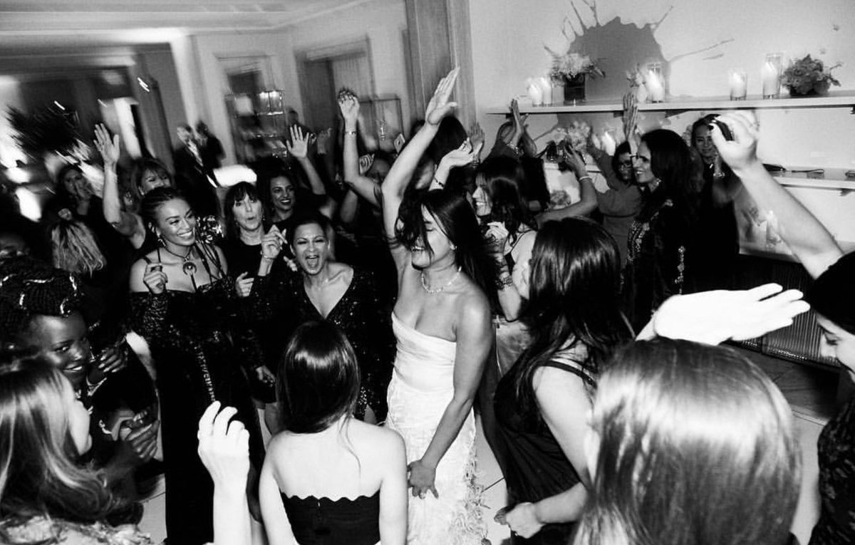 priyanka chopra having the time of her life at her bridal shower held at blue box cafe on the fourth floor of tiffany co in new york city