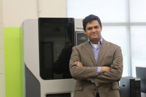 Saurabh Basu, assistant professor of industrial and manufacturing engineering, is working on making components that are made by additive manufacturing more reliable thanks to a grant from the National Science Foundation. (Photo: Penn State)