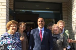 Raja Krishnamoorthi with supporters Facebook