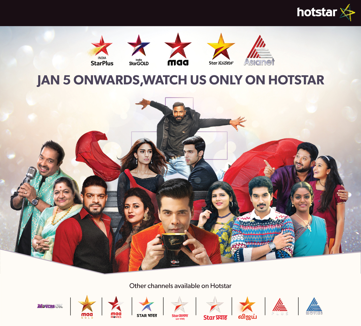 Starting January 5, STAR India's TV Channels will be