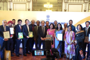 Awardees at the Pravasi Bharatiya Divas celebrations, at the Indian Consulate in New York, on January 12, 2019.