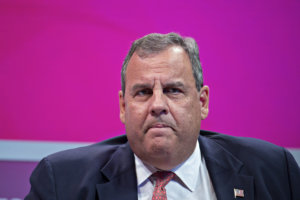 In his new book, Chris Christie reportedly blames Trump's problems on those around President Trump. MUST CREDIT: Bloomberg photo by Andrew Harrer