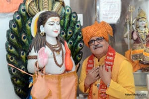 The President of the Executive Board, Mr. Vipan Wadhera at Baba Balak Nath Murti Pran Pratishtha Ceremony