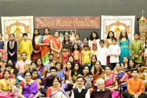 Performers at the Pallavi Music Academy's Pallavi Sangeet Utsav 2019, held Feb. 9, at Schaumburg, Illinois. (Photo courtesy Pallavi Music Academy)