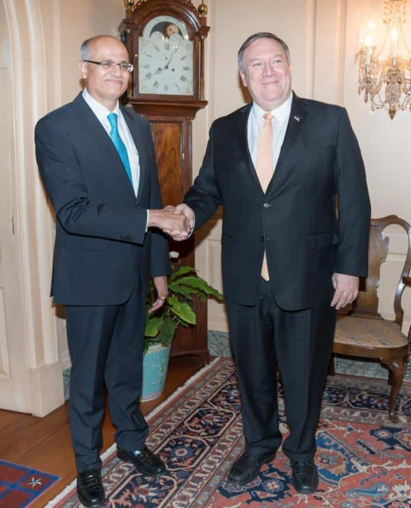 Secretary of State Mike Pompeo, Indian counterpart reassert