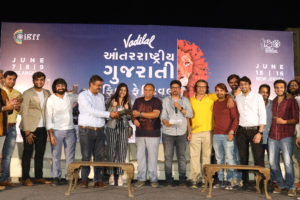 Organizers of the International Gujarati Film Festival pose for a photo. (Photo: courtesy Vadilal IGFF)