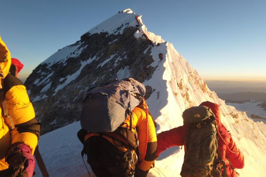 New video surfaces of crushed climbers dangerously jam-packed on Mount Everest