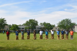 Mangalorean Konkan Christians enjoying the sack race at 17th annual picnic in Chicagoland June 21, 2019. (Photo courtesy MKCAssociation)