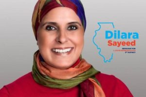 Dilara Sayeed, founder of vPeer, who ran for the Illinois State House in 2018. (Photo: courtesy Twitter)