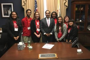 Rep. Raja Krishnamoorthi, center, with team from Save the Children Action Network which is gong to attend Illinois Advocacy Summit. (Photo: Twitter June 19, 2019)