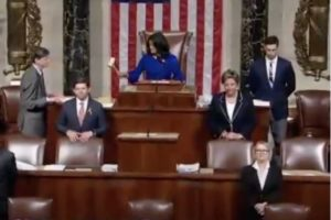 Rep. Pramila Jayapal, D-Washington, becomes first Indian-American woman to hold gavel presiding on House proceedings June 4, 2019, on Capitol Hill (Photo videograb Twitter Jayapal)