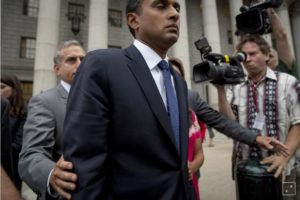FILE PHOTO: Former SAC Capital Advisors portfolio manager Mathew Martoma exits the U.S. District Court for the Southern District of New York, following sentencing for insider trading, in Lower Manhattan September 8, 2014. (Photo: REUTERS/Brendan McDermid)