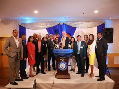 Governor Phil Murphy announces his upcoming economic mission trip to India at a luncheon hosted by the Asian Indian Chamber of Commerce in South Plainfield on July 15, 2019. (Photo: Edwin J. Torres/Governor's Office)