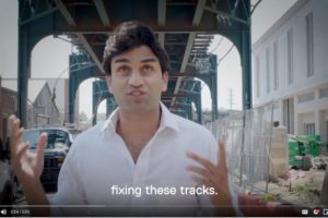 Suraj Patel, an attorney, launched his second campaign to unseat Rep. Carolyn Maloney from District 12 in New York. He is seen here at the beginning of a two-minute video that launched his campaign Sept. 18, 2019. (Photo: videograb from campaign launch video)