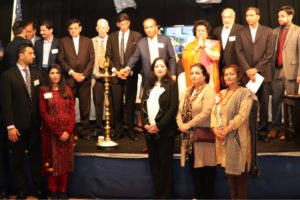 Indian Americans For Kashmir organizers and steering committee members, and speakers at the Jan. 18, 2020, meeting of the IAFK at TV Asia auditorium in Edison, N.J., attended by an estimated 300 people, to commemorate the 30th anniversary of what organizers describe as the genocide of Kashmiri Pandits and their expulsion from Kashmir starting Jan. 19, 1990. (Photo courtesy IAFK)