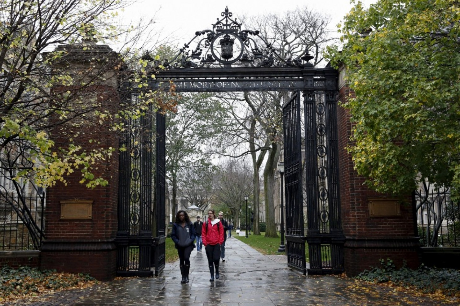 Students walk on the campus of Yale University in New Haven, Connecticut. (Shannon Stapleton/Reuters)