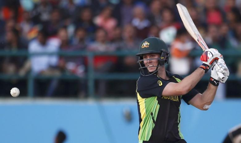 Australia v New Zealand - World Twenty20 cricket tournament - Dharamsala, India, 18/03/2016. Australia's Mitchell Marsh plays a shot. REUTERS/Adnan Abidi Picture Supplied by Action Images