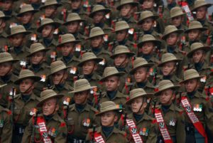 Soldiers march during the Republic Day parade in New Delhi, India January 26, 2017. REUTERS/Adnan Abidi