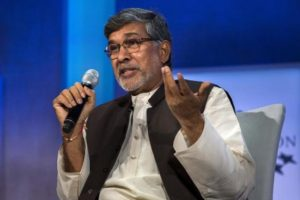 Kailash Satyarthi, 2014 Nobel Peace Prize Laureate, takes part in a panel during the Clinton Global Initiative's annual meeting in New York, September 27, 2015. REUTERS/Lucas Jackson/Files
