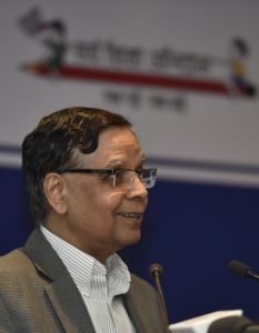 New Delhi: NITI Aayog Vice Chairman Dr. Arvind Panagariya addresses at the National Conference on Good Practices in the Social Sector Service Delivery, in New Delhi on May 23, 2016. (Photo: IANS)