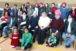 Sikh Volunteers Group at the Salvation Army on Chrismas Day 2018