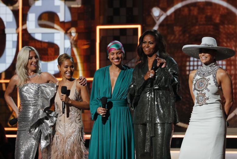 Former First Lady S Grammy Dress Raises Cache Of Indian Designers News India Times