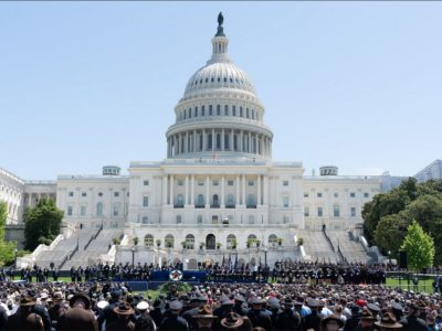 White House photo of the 38th Annual National Peace Officers' Memorial Service, on Capitol Hill May 15, where President Trump, during his address, brought the family of slain Indian-American police officer Ronil Singh of Newman, California. (Photo: White House)
