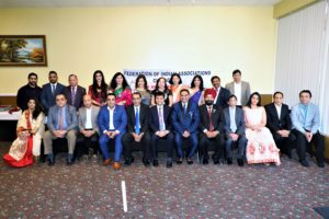 The Federation of Indian Associations of Chicago declared its executive team Oct. 20, 2019. The team poses for photo. (Photo: courtesy FIA, Chicago)