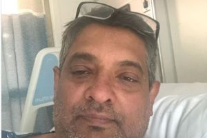 Renowned Chef Floyd Cardoz posted this selfie from hospital after testing positive for coronavirus. He succumbed to the infection soon after.