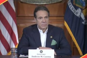 Gov. Andrew Cuomo speaking about COVID-19 spread in New York state (Photo videograb Twitter NYGovCuomo)