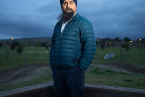 Amardeep Purewal, a tech contractor who works in security IT at Google. (Photo by John Brecher for The Washington Post)