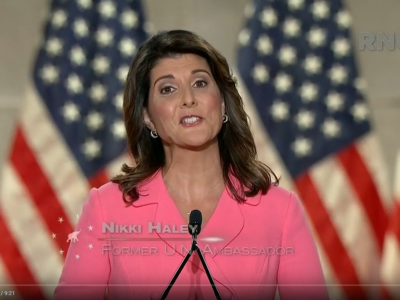 Nikki Haley addressing GOP convention Aug. 24, 2020. Photo: videograb from live coverage