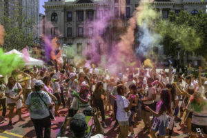 A Holi on the Hudson 2019 event organized by Surati. Photo: Paul Martin courtesy Surati
