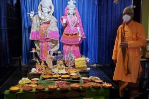 The Hill of Prasad (food offerings) offered to Lord Krishna to celebrate Govardhan Puja. Photo: Courtesy Hindu Mandir of Lake County, Illinois