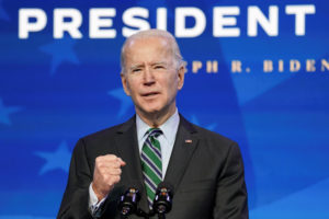 FILE PHOTO: U.S. President-elect Joe Biden introduces key members of his White House science team at his transition headquarters in Wilmington, Delaware, U.S., January 16, 2021 REUTERS/Kevin Lamarque/File Photo