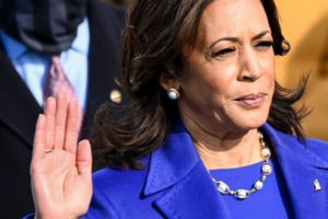 Kamala Harris is sworn in as vice president of the United States on Wednesday, Jan. 20, 2021. MUST CREDIT: Washington Post photo by Jonathan Newton
